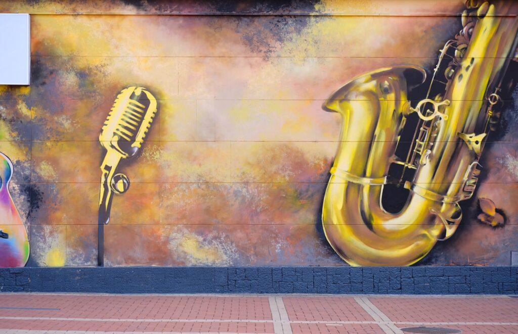 Graffiti auf Wand